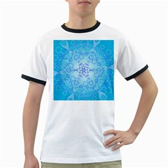 Design Winter Snowflake Decoration Ringer T Shirts