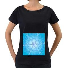 Design Winter Snowflake Decoration Women s Loose Fit T Shirt (black)