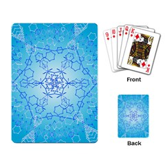 Design Winter Snowflake Decoration Playing Card by Nexatart