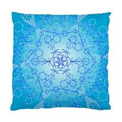 Design Winter Snowflake Decoration Standard Cushion Case (two Sides) by Nexatart