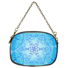 Design Winter Snowflake Decoration Chain Purses (two Sides)  by Nexatart