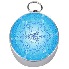 Design Winter Snowflake Decoration Silver Compasses