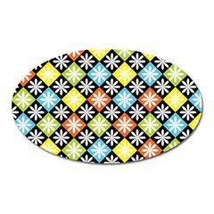 Diamonds Argyle Pattern Oval Magnet