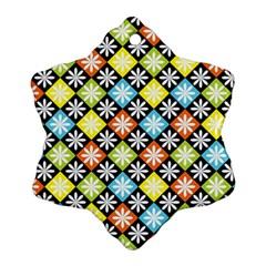 Diamonds Argyle Pattern Snowflake Ornament (two Sides)