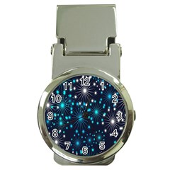 Digitally Created Snowflake Pattern Money Clip Watches by Nexatart