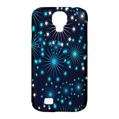 Digitally Created Snowflake Pattern Samsung Galaxy S4 Classic Hardshell Case (pc+silicone)