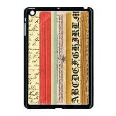 Digitally Created Collage Pattern Made Up Of Patterned Stripes Apple Ipad Mini Case (black)