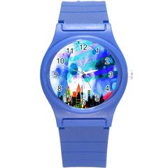 Dirty Dirt Spot Man Doll View Round Plastic Sport Watch (s) by Nexatart
