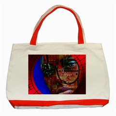 Display Dummy Binary Board Digital Classic Tote Bag (red) by Nexatart