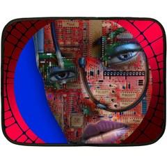Display Dummy Binary Board Digital Double Sided Fleece Blanket (mini)  by Nexatart