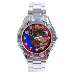 Display Dummy Binary Board Digital Stainless Steel Analogue Watch by Nexatart