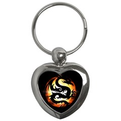 Dragon Fire Monster Creature Key Chains (heart)