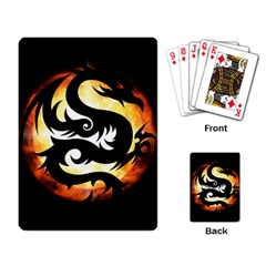 Dragon Fire Monster Creature Playing Card by Nexatart