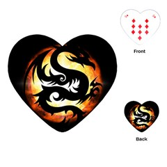 Dragon Fire Monster Creature Playing Cards (heart)  by Nexatart