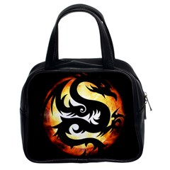 Dragon Fire Monster Creature Classic Handbags (2 Sides) by Nexatart