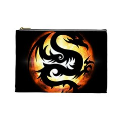 Dragon Fire Monster Creature Cosmetic Bag (large)