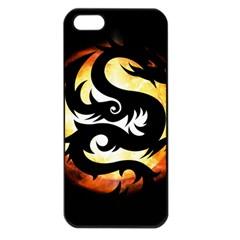 Dragon Fire Monster Creature Apple Iphone 5 Seamless Case (black)