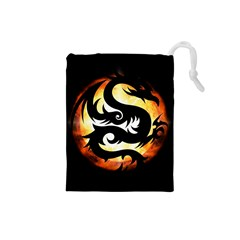 Dragon Fire Monster Creature Drawstring Pouches (small)