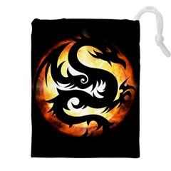 Dragon Fire Monster Creature Drawstring Pouches (xxl) by Nexatart