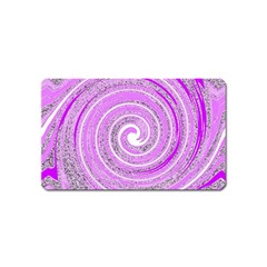 Digital Purple Party Pattern Magnet (name Card)