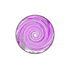 Digital Purple Party Pattern Hat Clip Ball Marker (4 Pack)