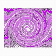 Digital Purple Party Pattern Small Glasses Cloth by Nexatart