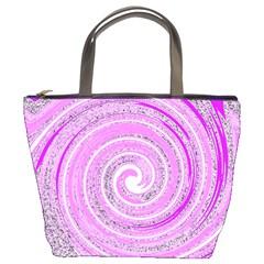 Digital Purple Party Pattern Bucket Bags