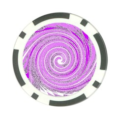 Digital Purple Party Pattern Poker Chip Card Guard (10 Pack) by Nexatart