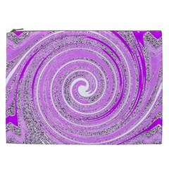 Digital Purple Party Pattern Cosmetic Bag (xxl)
