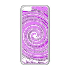 Digital Purple Party Pattern Apple Iphone 5c Seamless Case (white)