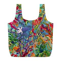 Dubai Abstract Art Full Print Recycle Bags (l)  by Nexatart