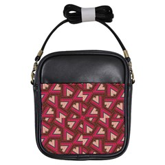 Digital Raspberry Pink Colorful Girls Sling Bags by Nexatart
