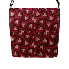 Digital Raspberry Pink Colorful Flap Messenger Bag (l)