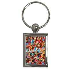 Dragons China Thailand Ornament Key Chains (rectangle)
