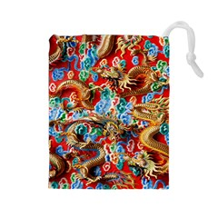 Dragons China Thailand Ornament Drawstring Pouches (large)