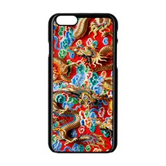 Dragons China Thailand Ornament Apple Iphone 6/6s Black Enamel Case