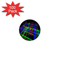 Electronics Board Computer Trace 1  Mini Buttons (100 Pack)  by Nexatart