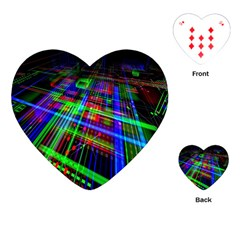 Electronics Board Computer Trace Playing Cards (heart)  by Nexatart
