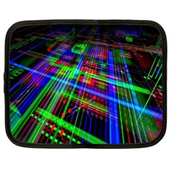 Electronics Board Computer Trace Netbook Case (large) by Nexatart