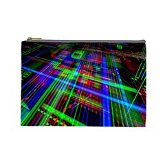 Electronics Board Computer Trace Cosmetic Bag (large)  by Nexatart