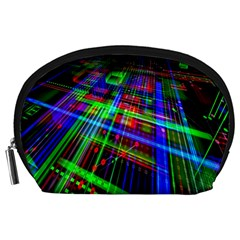Electronics Board Computer Trace Accessory Pouches (large)  by Nexatart