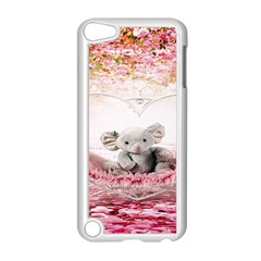Elephant Heart Plush Vertical Toy Apple Ipod Touch 5 Case (white)