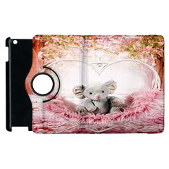 Elephant Heart Plush Vertical Toy Apple Ipad 3/4 Flip 360 Case