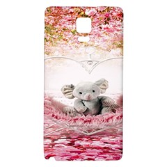 Elephant Heart Plush Vertical Toy Galaxy Note 4 Back Case
