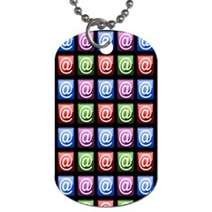 Email At Internet Computer Web Dog Tag (one Side)