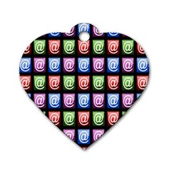 Email At Internet Computer Web Dog Tag Heart (two Sides)