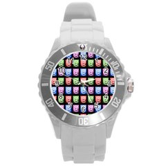 Email At Internet Computer Web Round Plastic Sport Watch (l)