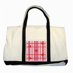 Fabric Magenta Texture Textile Love Hearth Two Tone Tote Bag by Nexatart