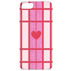 Fabric Magenta Texture Textile Love Hearth Apple Iphone 5 Classic Hardshell Case by Nexatart