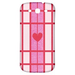 Fabric Magenta Texture Textile Love Hearth Samsung Galaxy S3 S Iii Classic Hardshell Back Case by Nexatart